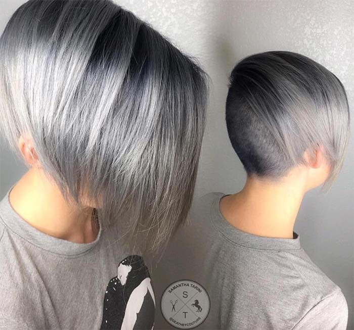 Coloring Ideas For Short Hair : 85 silver hair color ideas and tips for dyeing maintaining your