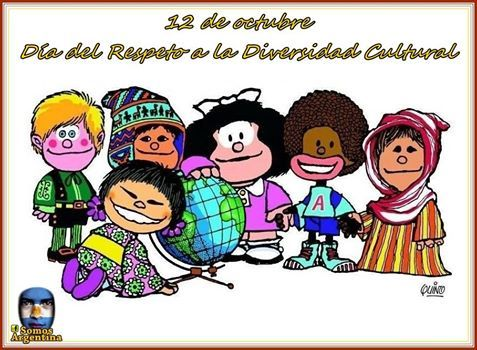 Dia Del Respeto A La Diversidad Cultural Es El Nombre Que Recibe En Argentina El 12 De Diversidad Cultural Diversidad Cultural Para Ninos Literatura Para Ninos