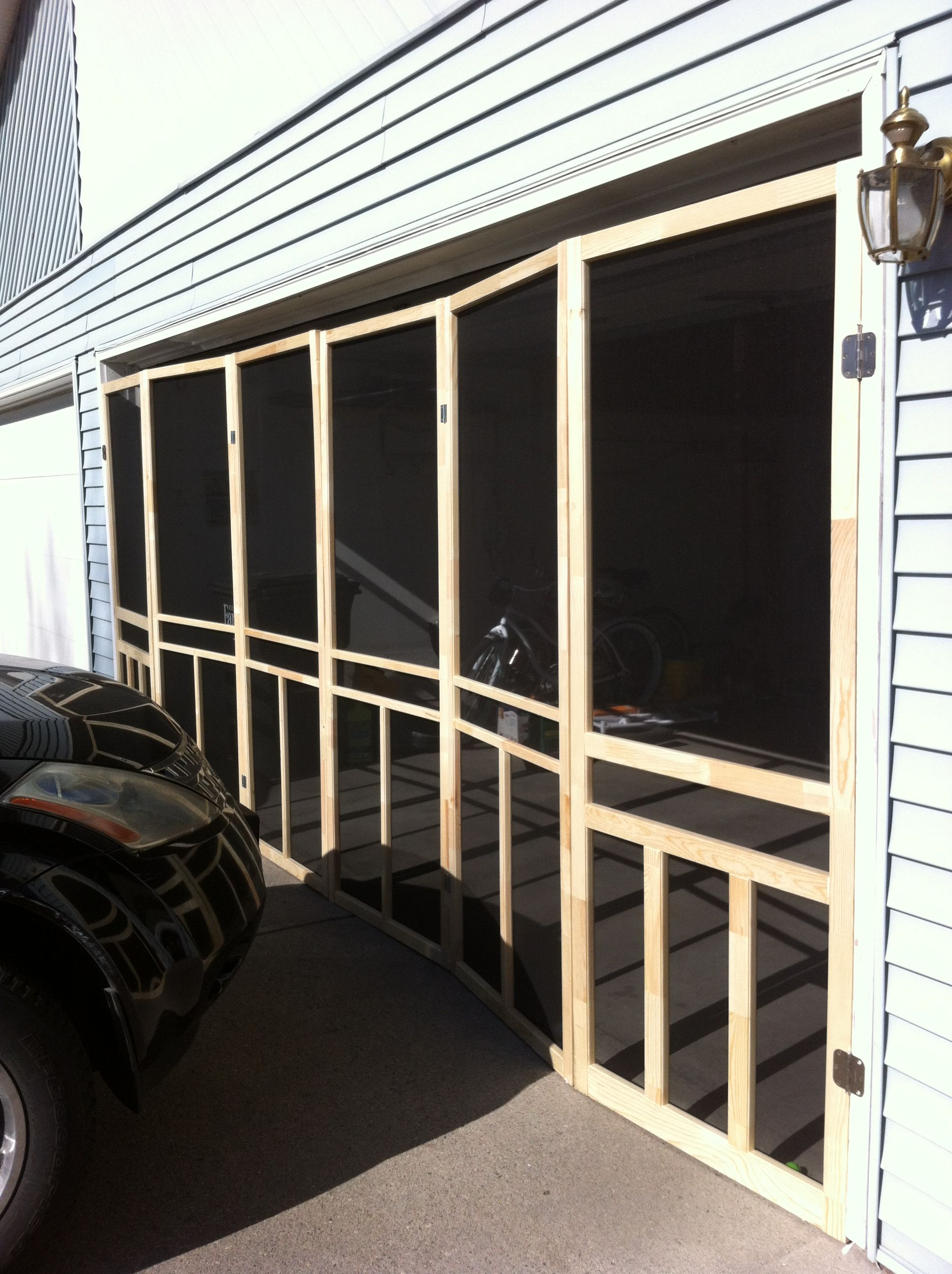 Six Screen Doors For The Garage Door And You Can Have Your
