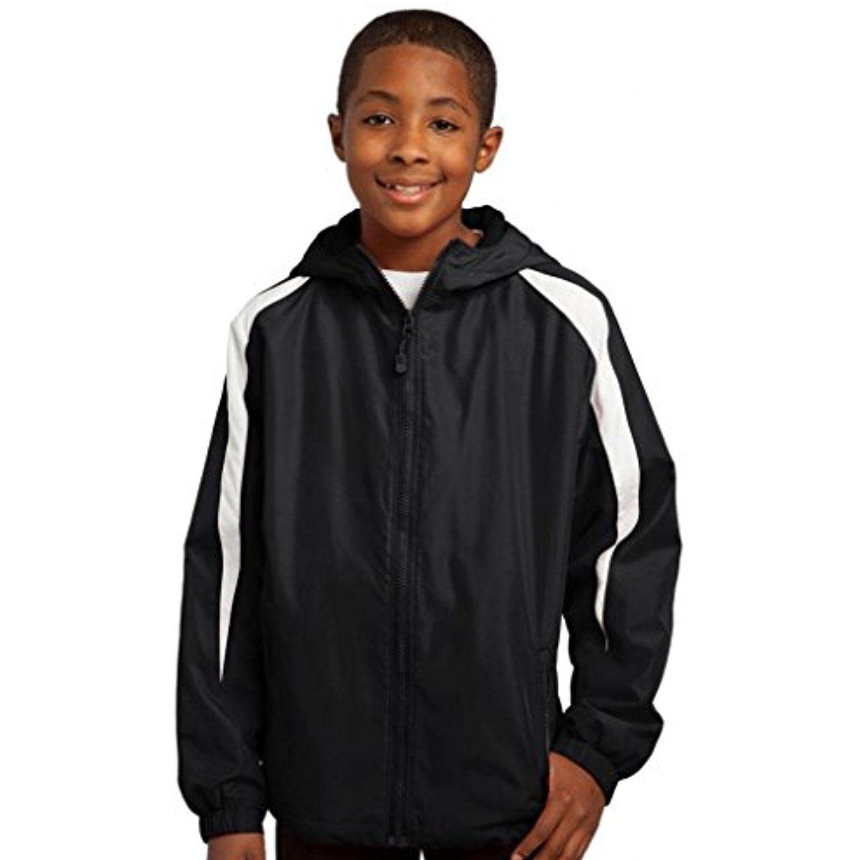 SportTek YST81 Youth FleeceLined Colorblock Jacket