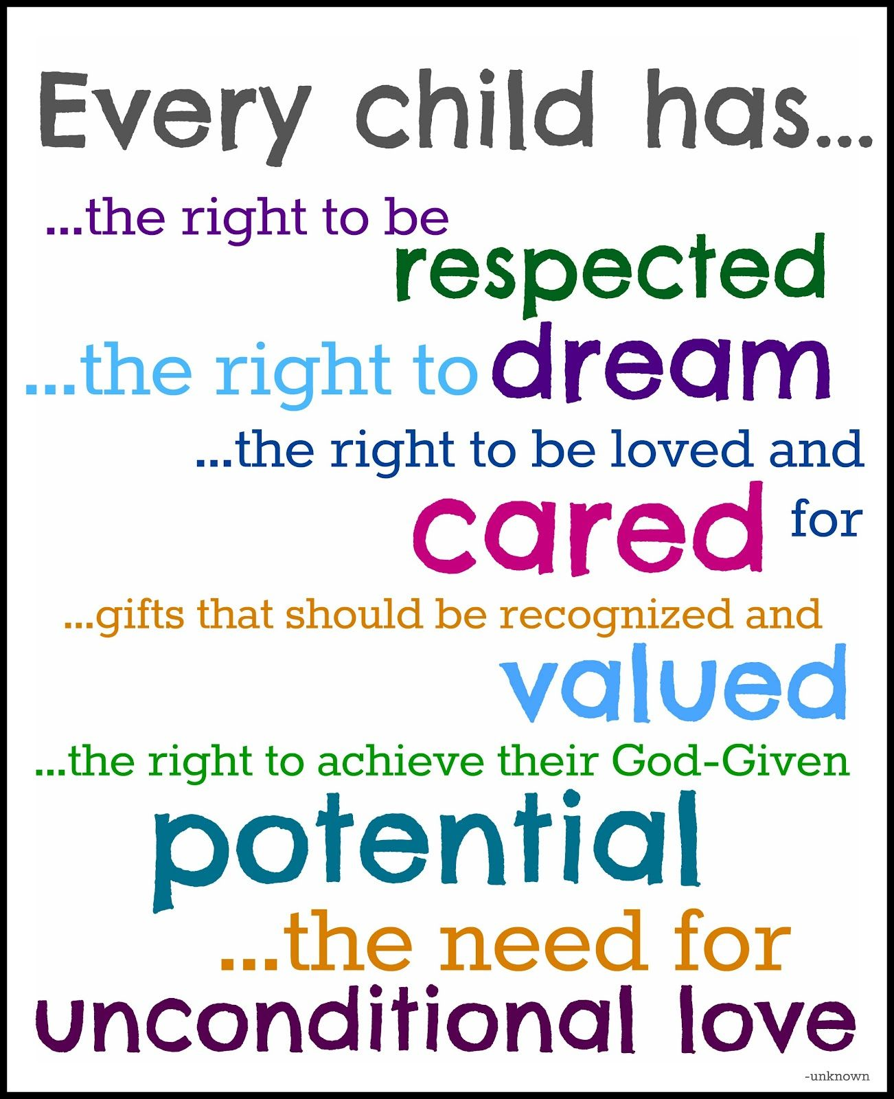 Every Child Has Teaching Quotes Foster Parenting Education