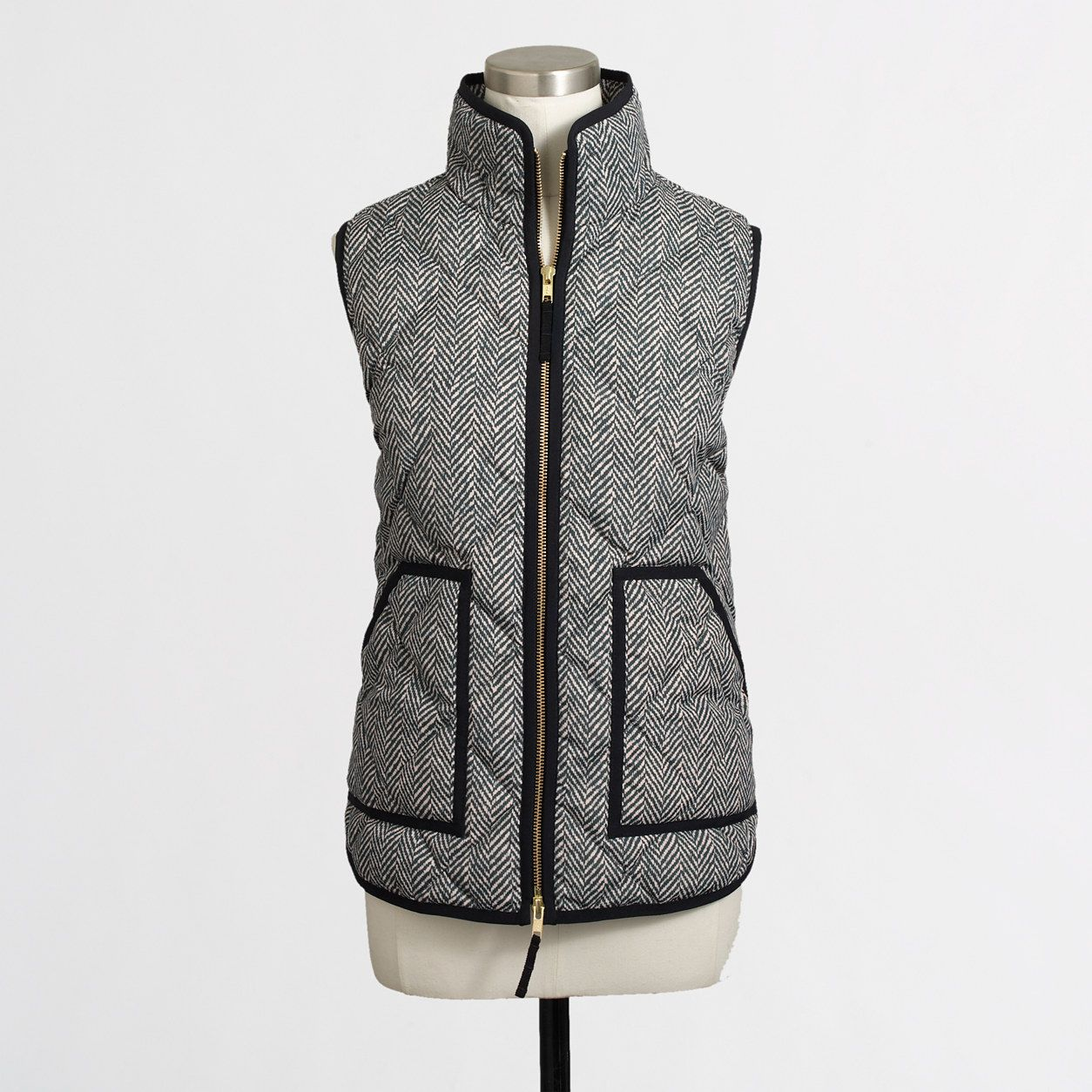 Cute and stylish and sleek vest. This is a jcrew factory puffer ...