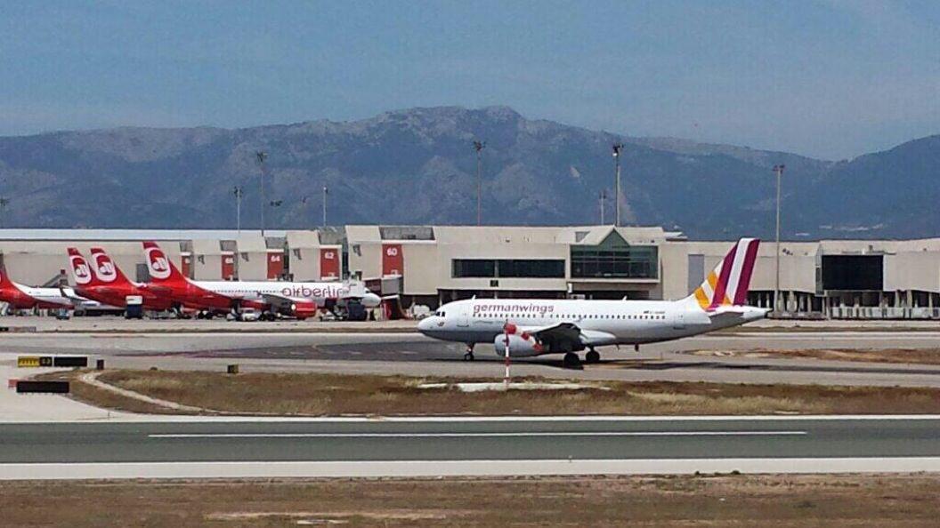 A-320 Germán Wings on Palma de Mallorca AirPort