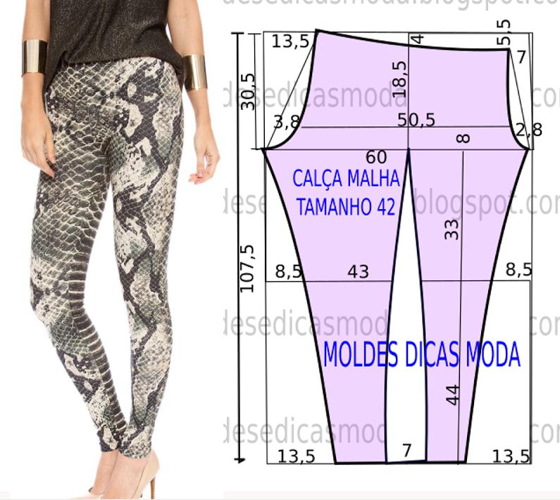 Calça com estampa de cobra - Moldes Moda por Medida | Blanco ...