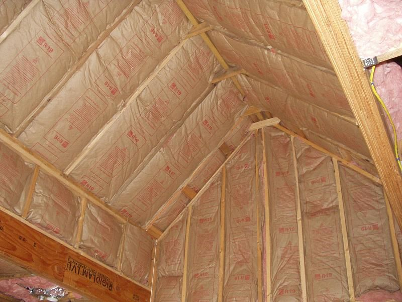 Insulation Of Vaulted Ceiling Here S The Progress With