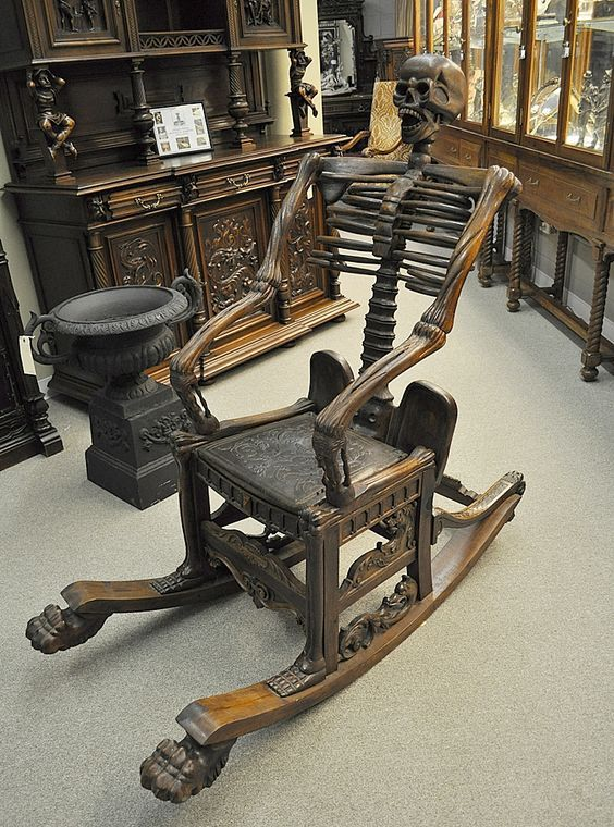 Terrific A Skeleton Rocking Chair From The Estate Of Vincent Price Ibusinesslaw Wood Chair Design Ideas Ibusinesslaworg