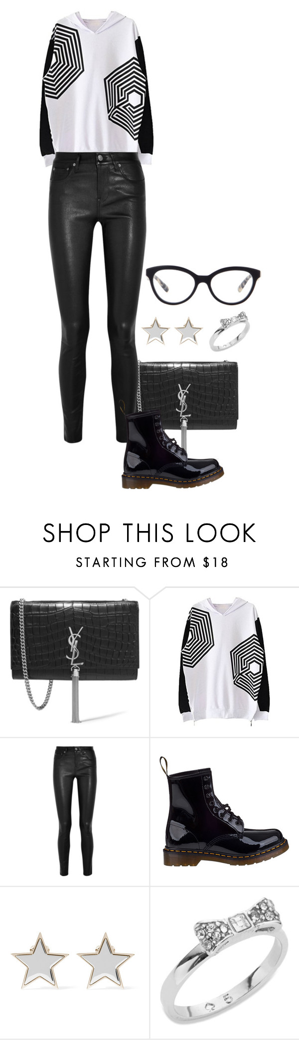 """Overdose."" by foreverforbiddenromancefashion ❤ liked on Polyvore featuring Yves Saint Laurent, Helmut Lang, Dr. Martens, Givenchy, Kate Spade, Prada, women's clothing, women, female and woman"