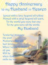 Image Result For Happy Anniversary To Husband In Heaven Family