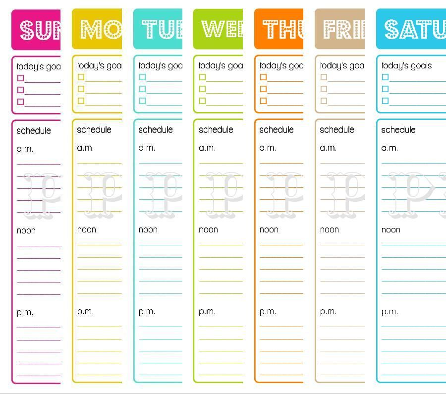 Printable Daily Planner  To Do List  Goals Schedule  Menu - daily task sheet template