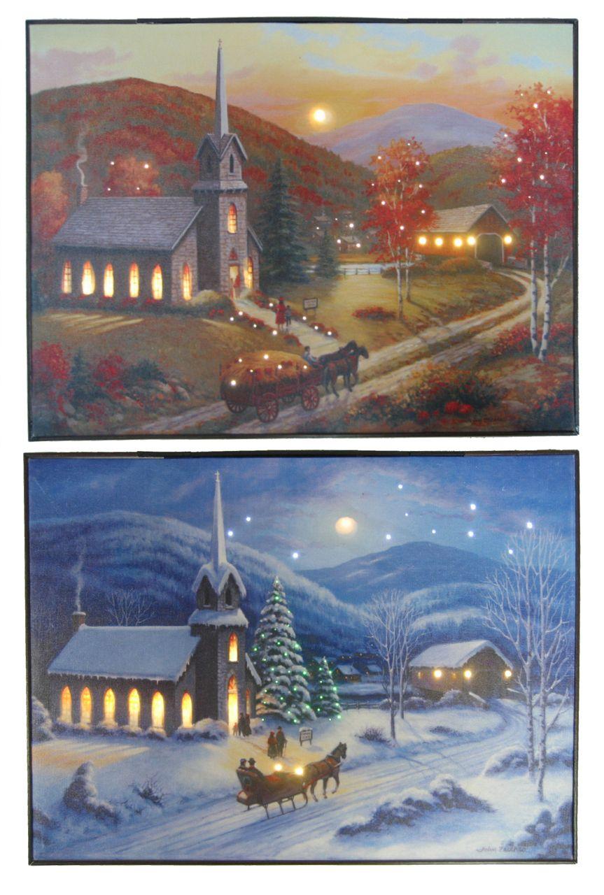 "The Jolly Christmas Shop Mr. Christmas 12""x 16"