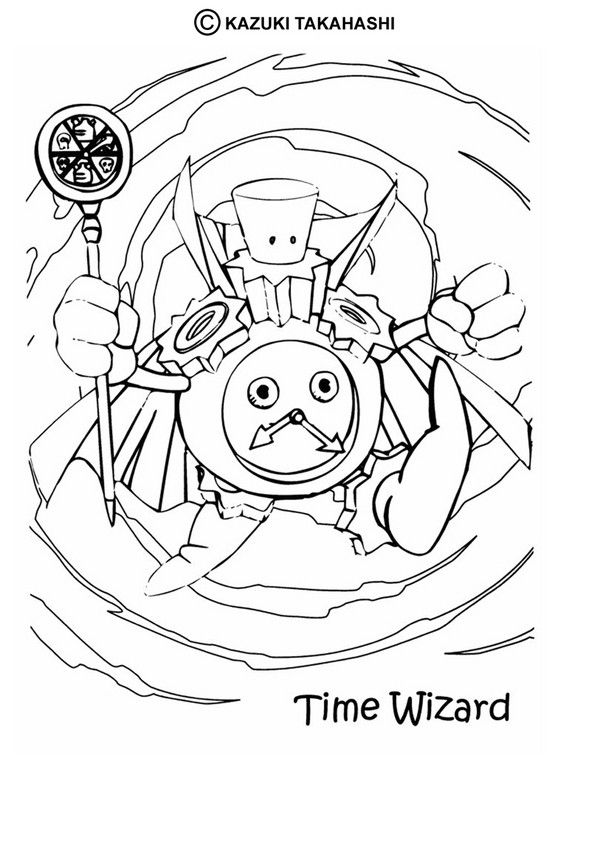 Time Wizard coloring page. Check out the YU-GI-OH coloring