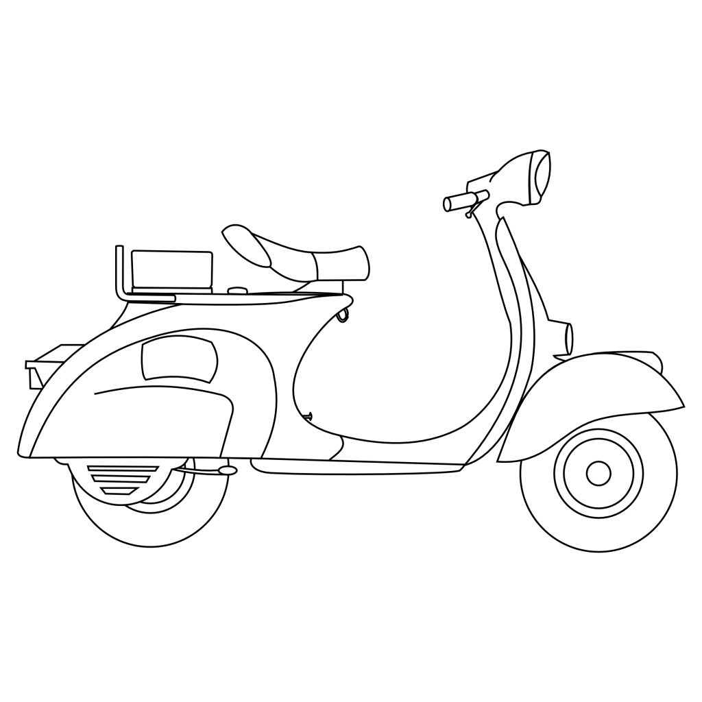 vespa coloring pages motorcycle