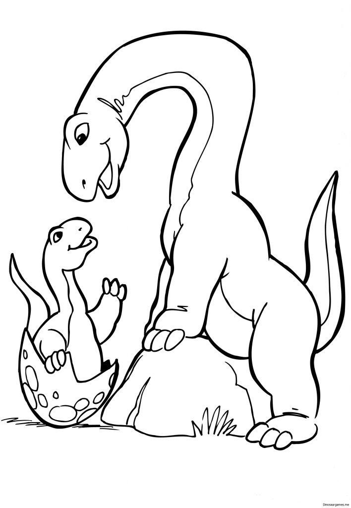 Dinosaur Coloring Pages for toddlers Dinosaur Coloring ...