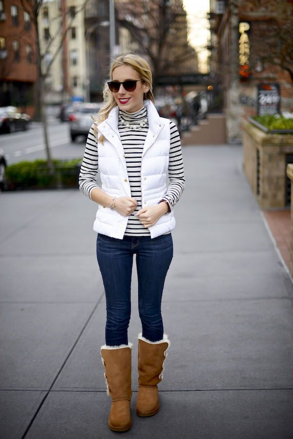 UGG Bailey Button Boots + Lilly Puffer