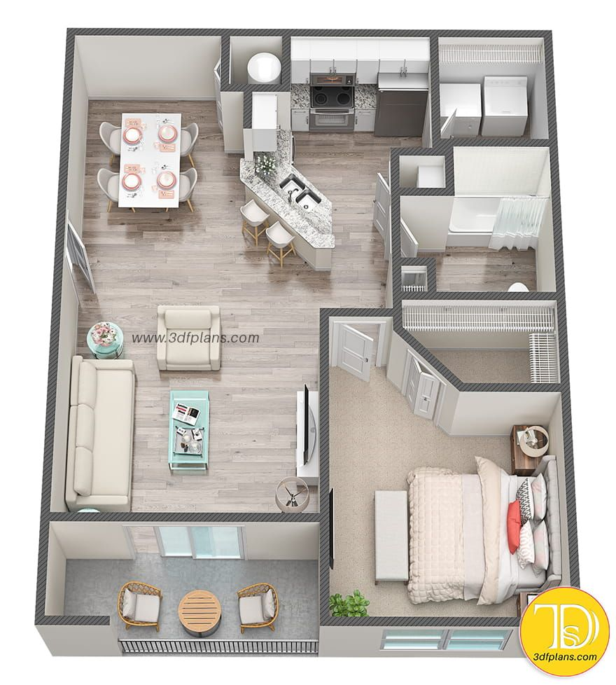 1 Bedroom Plan Small Apartment Floor Plans Studio Apartment Floor Plans One Bedroom House