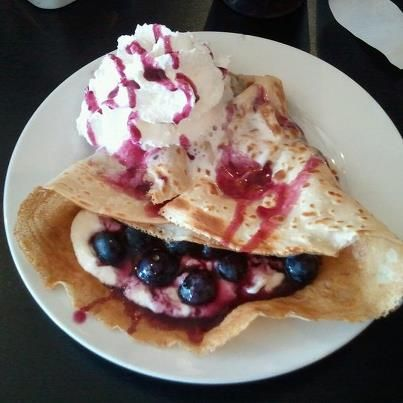 Blueberries & Sour Cream - Served with Whip Cream & blueberry syrup Blueberries & Sour Cream  Served with Whip Cream & blueberry syrup. https://www.facebook.com/pages/Cupz-N-Crepes/151747338176751