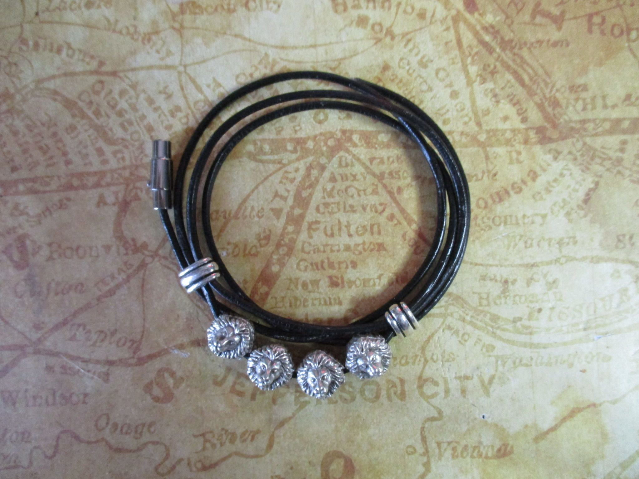 Mens lions head bracelet by spiritracer on etsy etsy