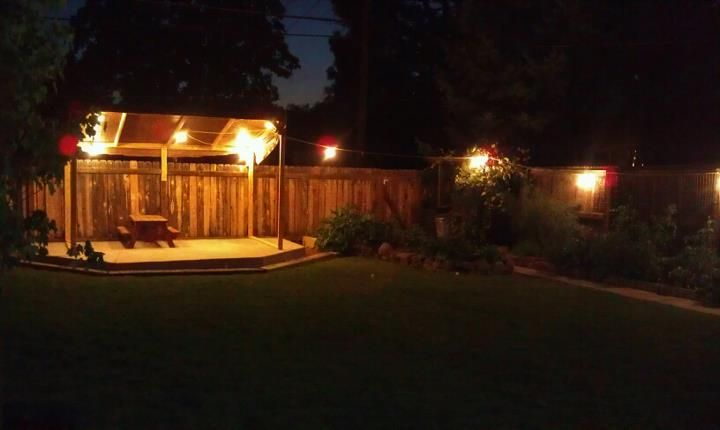 Backyard stage, because...Why not? (With images) | Backyard design ...