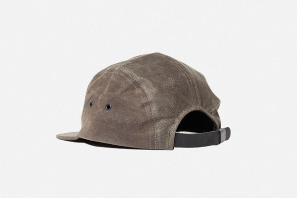 d6ec98567ce We worked together with NYC-based Knickerbocker Manufacturing Co. to  produce this waxed canvas 5-panel cap with custom matte black hardware. The  hat is made ...