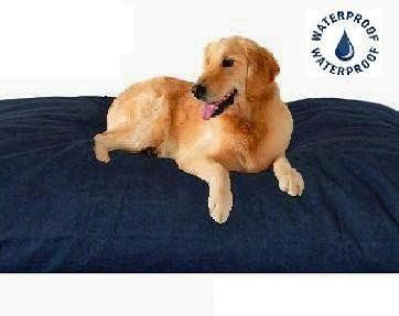 199 00 The Largest Jumbo Xxxl Overstuffed Extra Large Orthopedic 58 X50 Thick Heavy Duty Denim Waterproof Me Dog Pillow Bed Extra Large Dog Bed Cool Dog Beds
