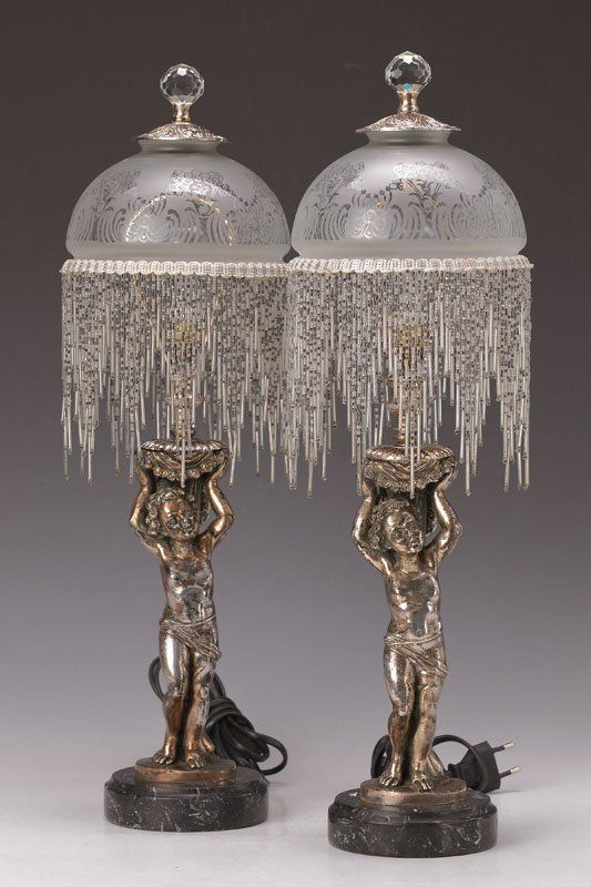 Pair of table lamps spain 1920s art deco lot 4681 - Art deco espana ...