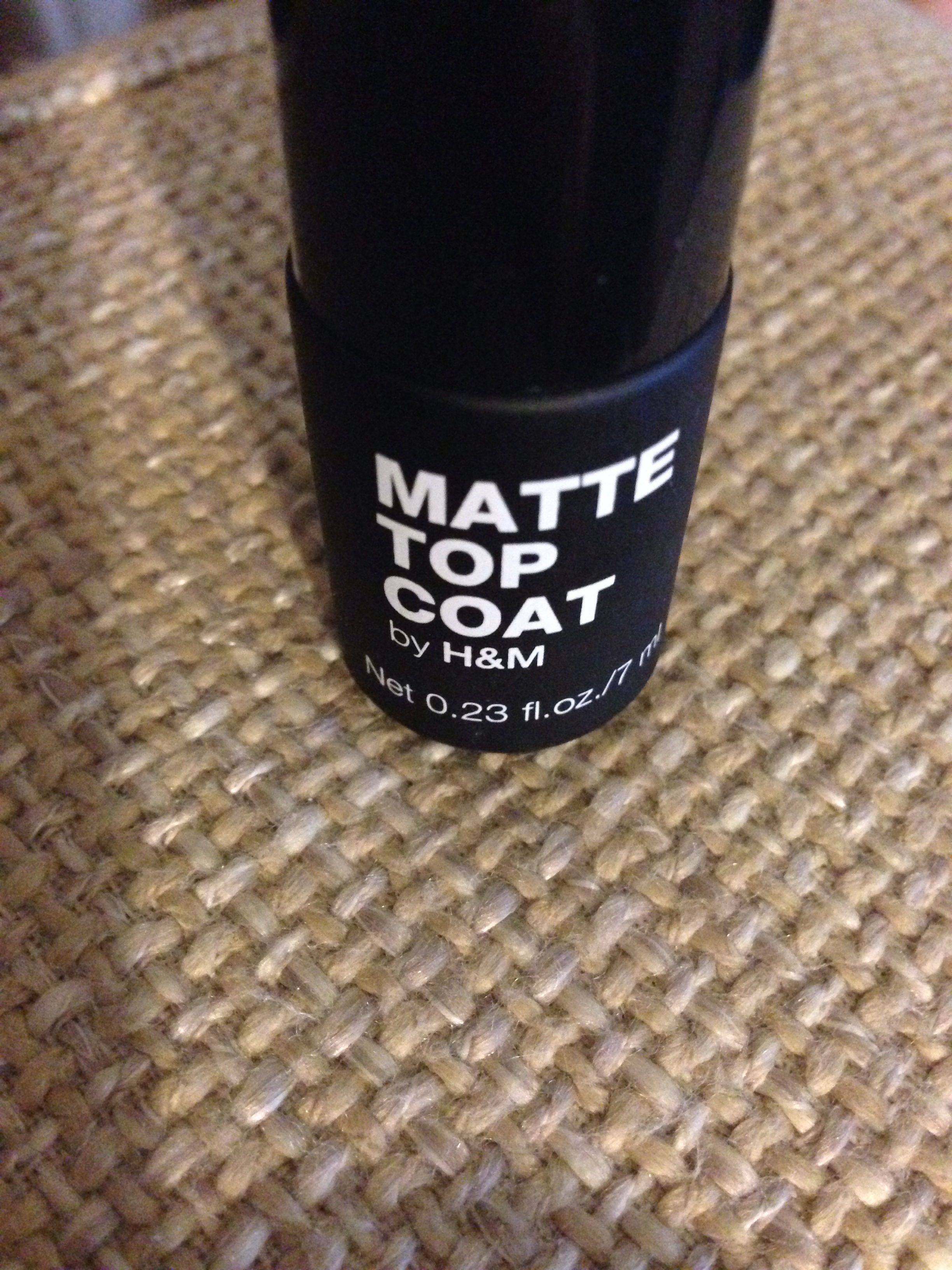 H&M mat topcoat ... £2 and actually works!! Love it!!