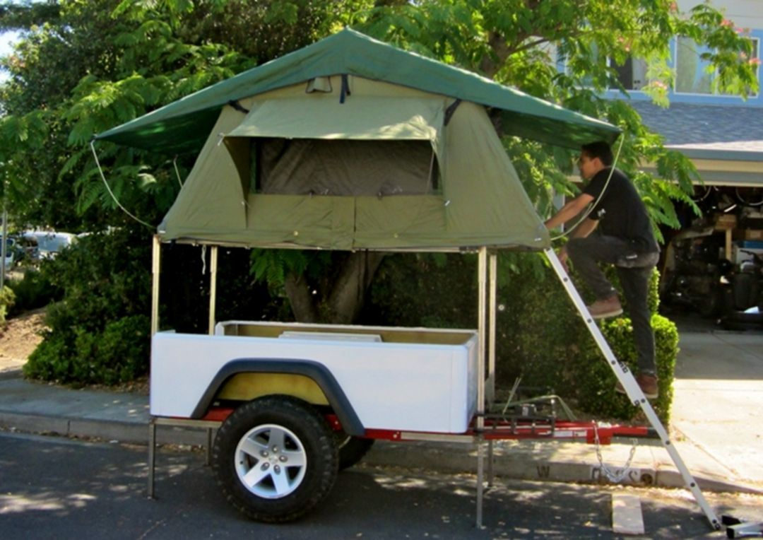 37 Cozy Small Tent Trailers Ideas For Inexpensive Camping