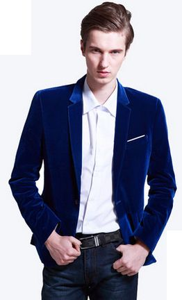 PILAEO Royal Blue Velvet Blazer | www.pilaeo.com #men's #luxury ...