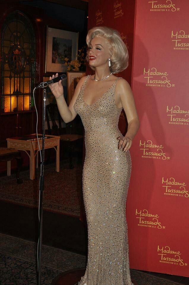 Marilyn Monroe Wax Sculpture At Madame Tussauds