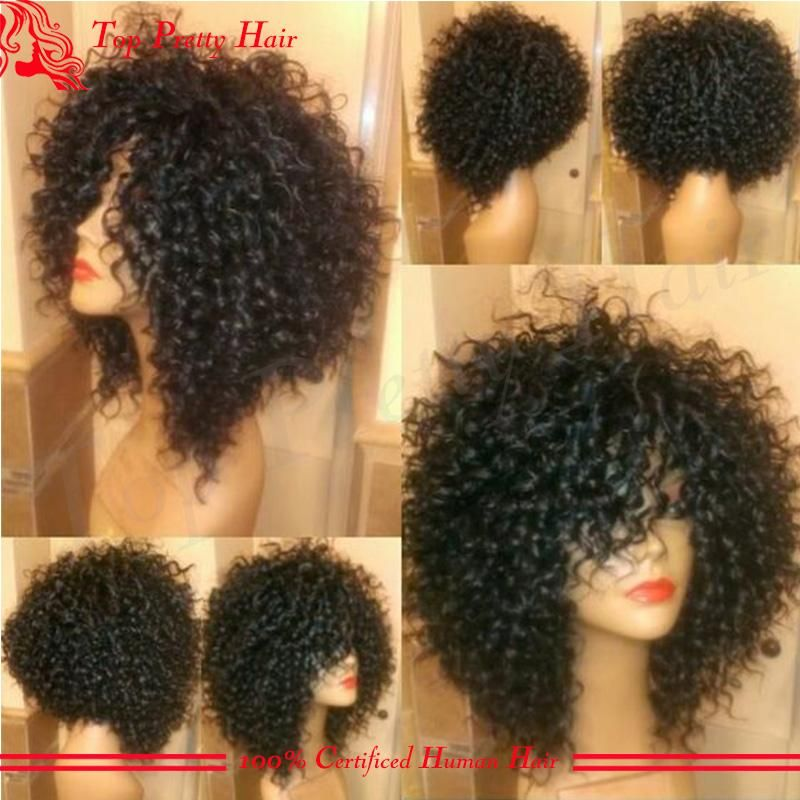 High Quality 100 Virgin Human Hair Full Lace Wig Curly