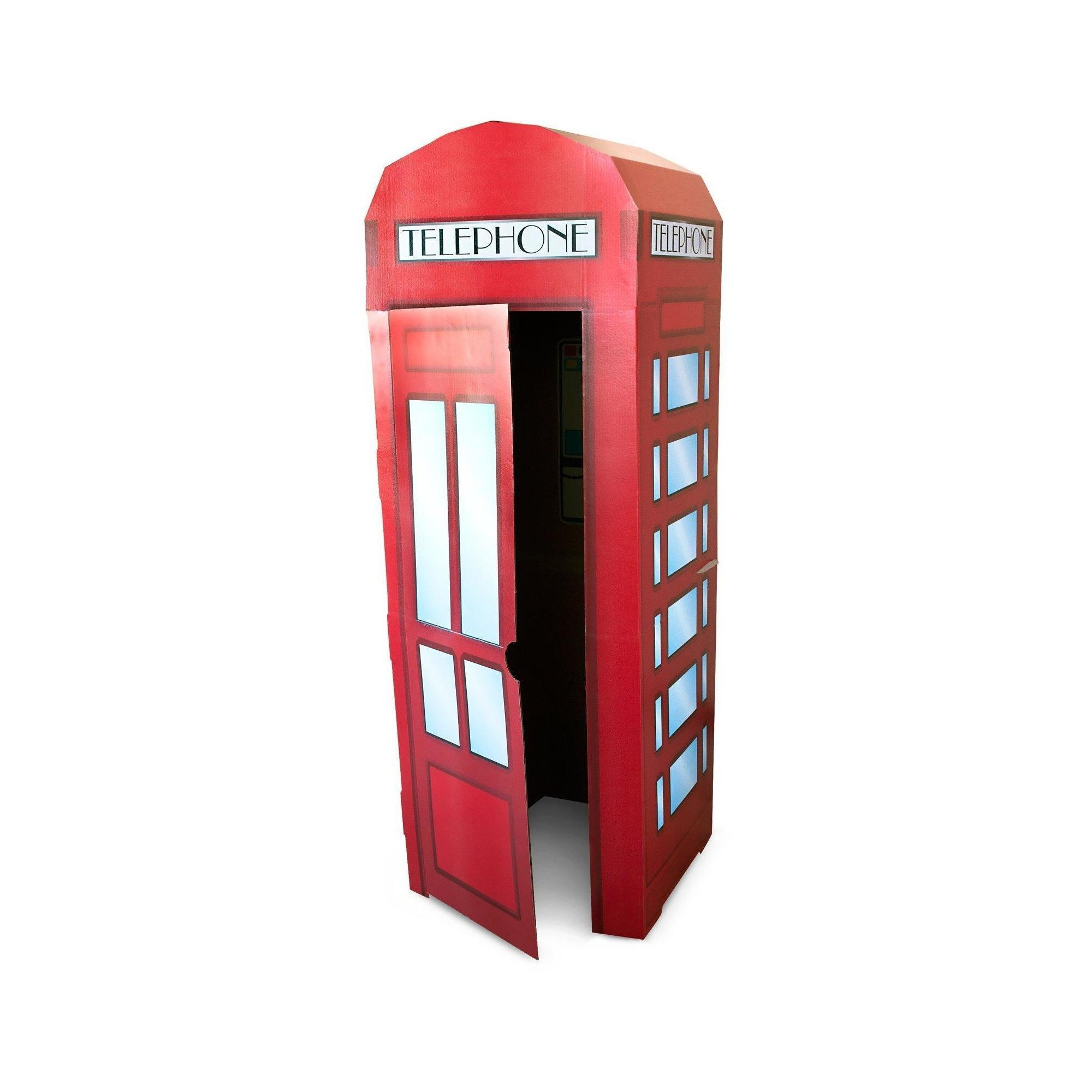 Phone Booth Stand, Red, Party Decorations And Accessories
