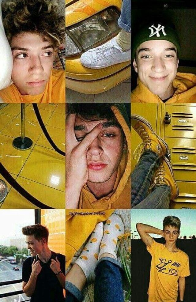 Yellow aesthetic Zach herron, Why dont we boys, Jack avery
