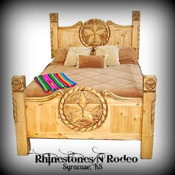 Texas Star Rope Rustic Bed Www Rhinestonesnrodeo Com Rustic Bedroom Furniture Furniture Bedroom Furniture