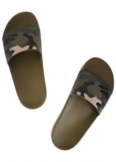 067c623844ee7 Valentino multicoloured PVC sliders Camouflage print, moulded footbed Slip  on Come with a dust bag