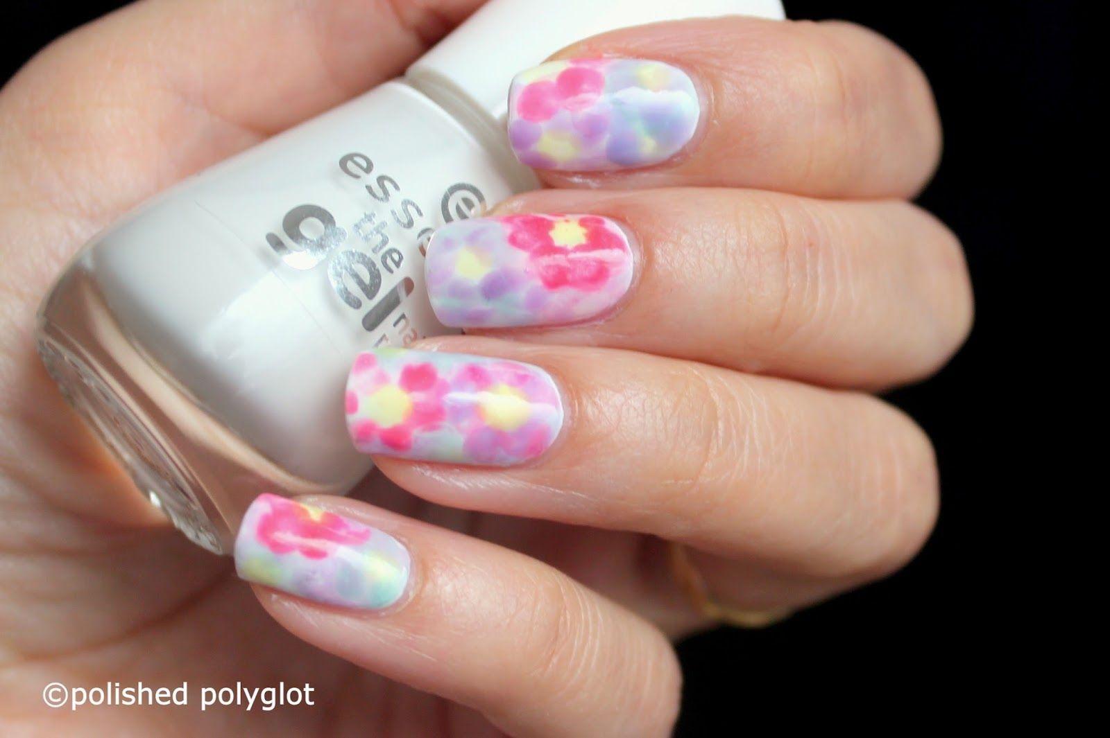 Nail art │ Floral watercolor nail design [Nail Crazies United]