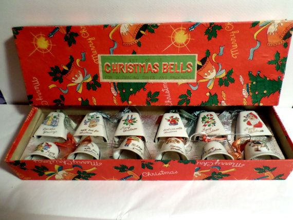 Made in Japan ceramic Christmas Bells complete by DeliciasCastle