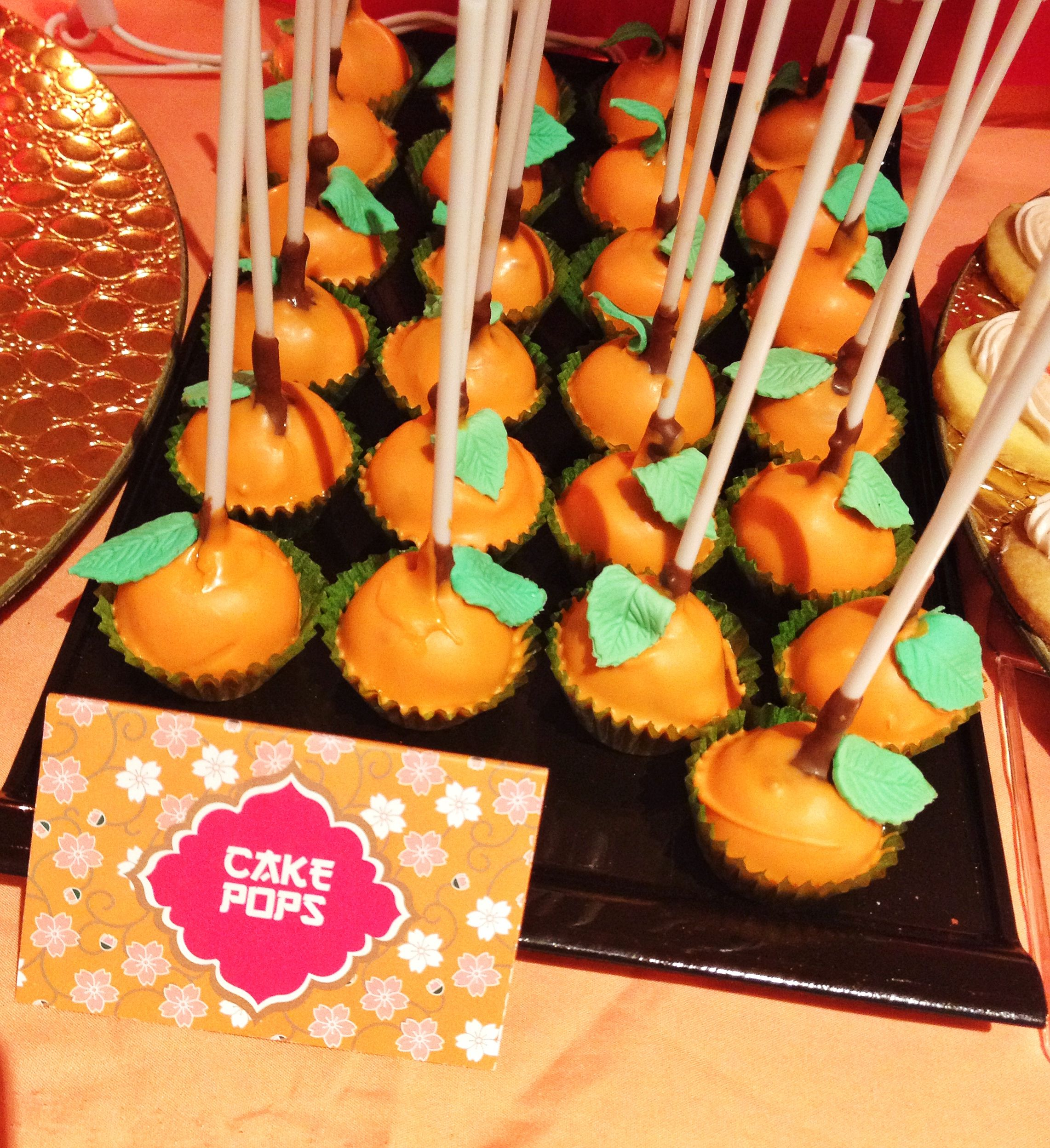 chinese new year themed birthday  mandarin orange cake pops