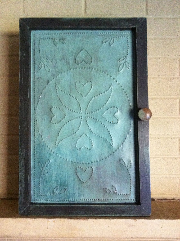 Punched Tin Door Reclaimed Barnwood Barn Door Cabinet Punched Tin Barn Wood Crafts