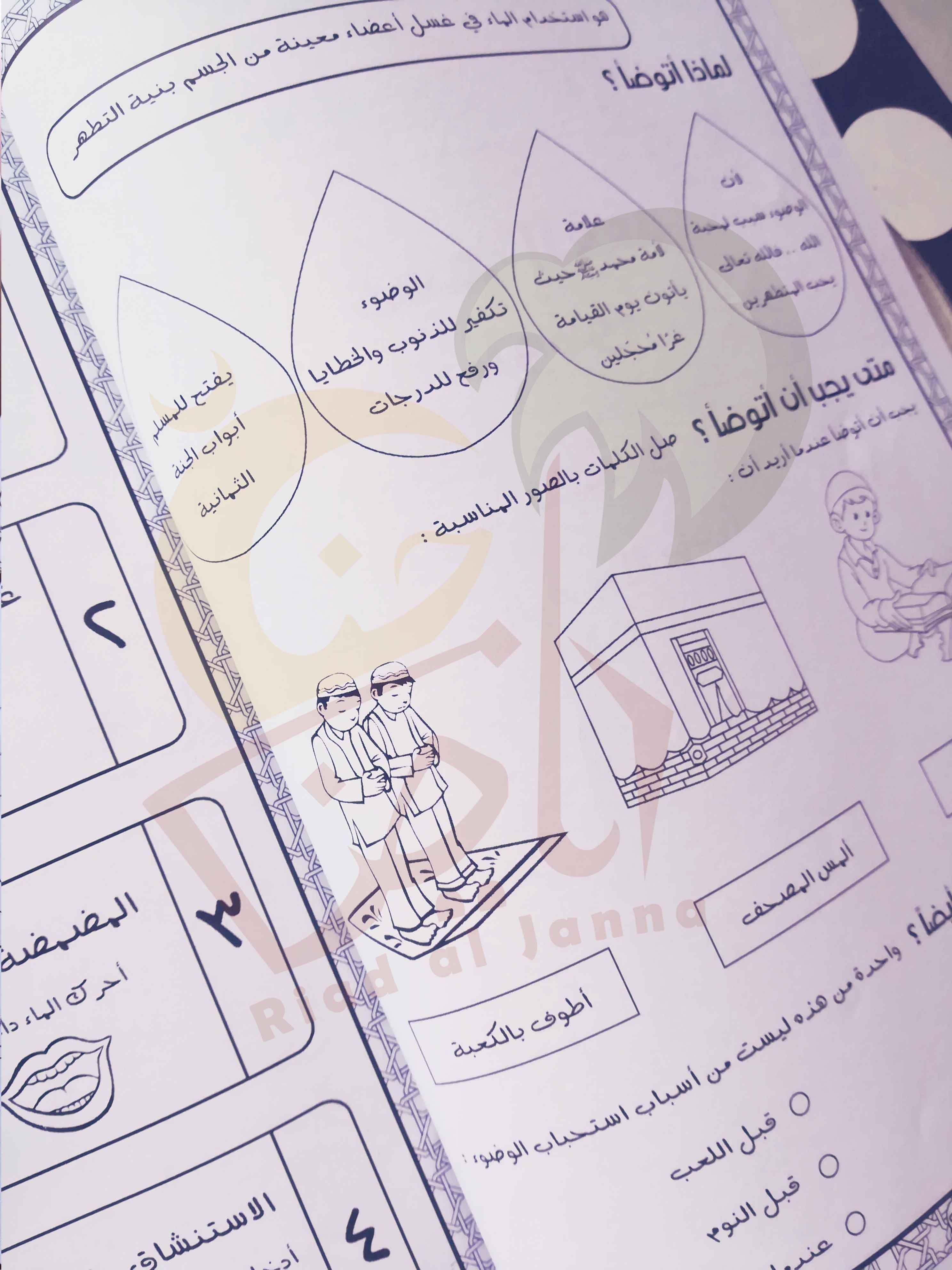 كتيب ممتع لتعليم الوضوء للأطفال برسوم جميلة و خطوات واضحة و تمارين شيقة مدعم بفيديوهات للايضاح و أفكار للتطبي Islam For Kids Concrete Wallpaper Islamic Studies