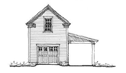 Historic Style 2 Car Garage Plan Number 73779 with 1 Bed, 1 Bath #garageplans