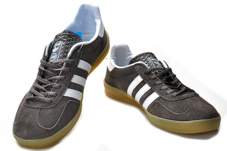 men's adidas dark grey gazelle indoor trainers