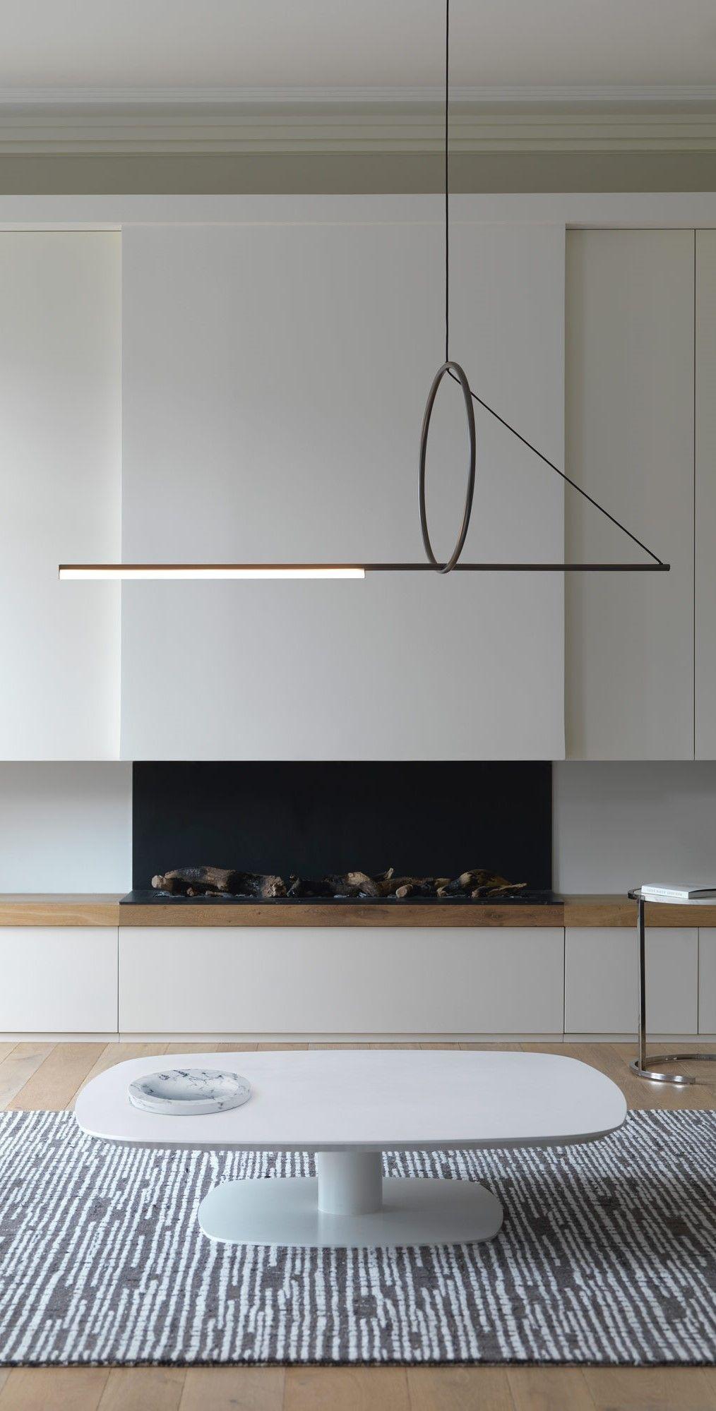 Idee Deco Suspension Salon cercle et trait linear suspensioncvl luminaires