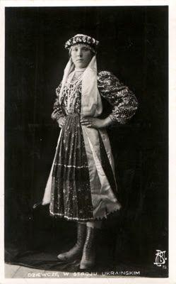 Dziewcze w stroju ukrainskim -z -zaleszczyk.jpg | Ретро ...