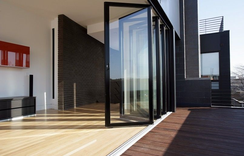 Furniture Exterior Black Glass Folding Door Folding Door Without ...
