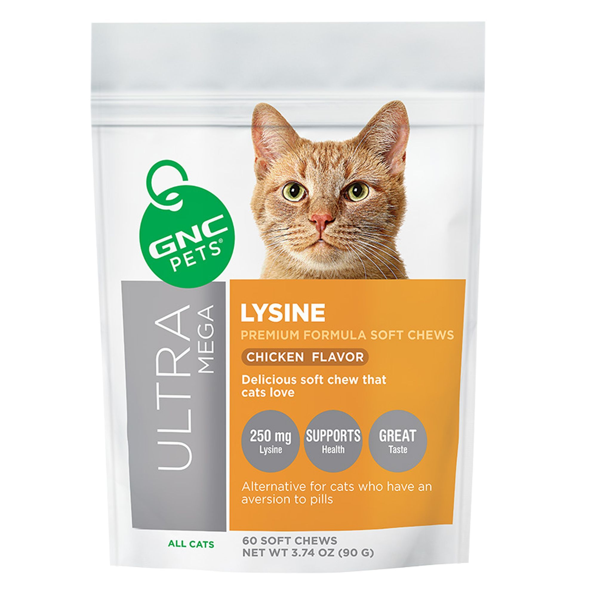 GNC Pets® Ultra Mega Lysine Soft Cat Chews - Chicken