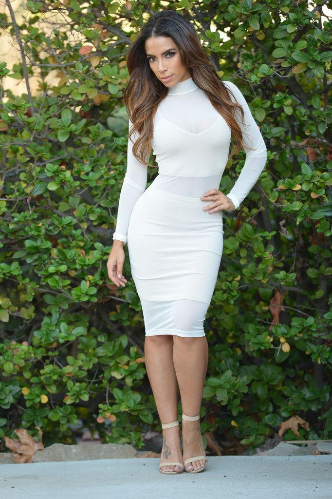 fda7659f14c Sheer Elegance Dress - Ivory