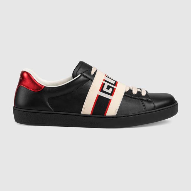 Gucci stripe leather sneaker | Louis
