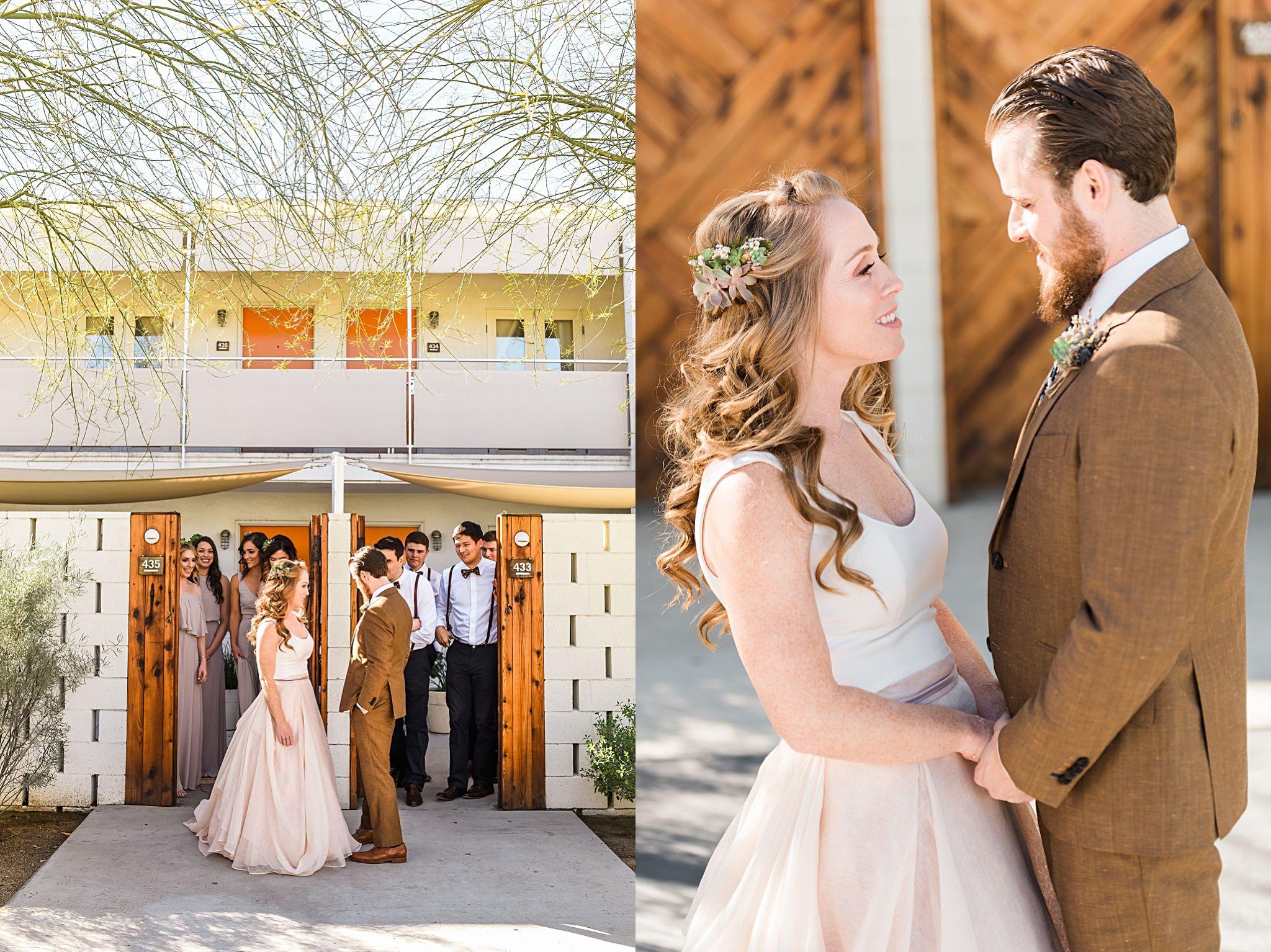 Natalie garrettus diy boho ace hotel wedding in palm springs