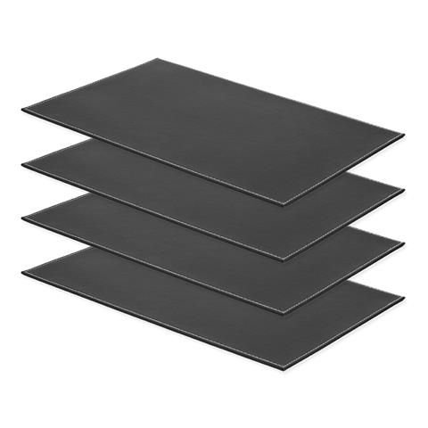 Set Of 4 Black Plastic Placemats Kmart Placemats Settings Kitchen Dining Room