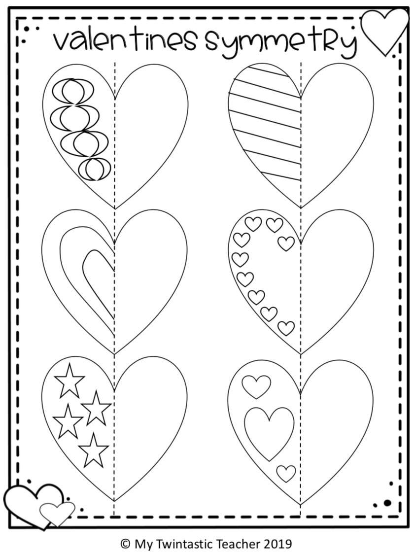 Valentine Symmetry Valentine Art Projects Valentine Activities Kindergarten Valentines [ 1126 x 842 Pixel ]